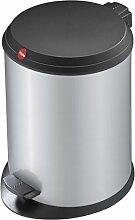 Hailo T1 M, Mülleimer aus Stahlblech mit Kunststoff-Deckel, 11 Liter, großer Öffnungswinkel, standfest, Tragegriff, made in Germany, 0513-319