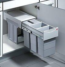 Hailo Terzett Küchen-Abfalleimer, Plastik, Grau,