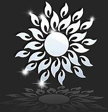 HAIMACX Acryl Wandaufkleber Sonne Wandspiegel