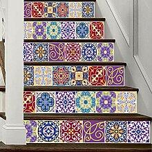 HAIMACX Treppenaufkleber Farbe Fliese Kreative