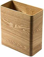 HAIMENG Mülleimer aus Holz, schmal, klein,