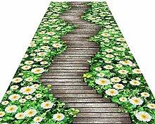 HAIPENG Läufer Teppich für Flur, Rutschfeste