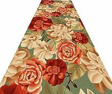 HAIPENG-Läufer Teppiche Flur 3D Blumen Teppich