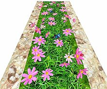 HAIPENG-Läufer Teppiche Flur 3D Teppich Blumen
