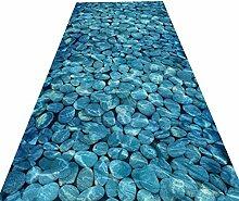 HAIPENG-Läufer Teppiche Flur Blau Stein Teppich