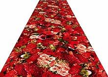 HAIPENG-Läufer Teppiche Flur Blume 3D