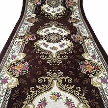 HAIPENG-Läufer Teppiche Flur Braun Teppich mit