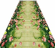 HAIPENG-Läufer Teppiche Flur Rasen Teppich Extra