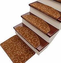 HAIPENG Treppenmatten Teppich Treppen Zottelig