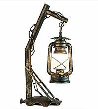 HAIQI Tischlampe, Retro Schmiedeeisen Kerosin