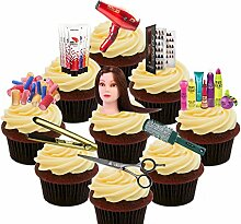 Hairdresser Party Pack Edible Cupcake Toppers -