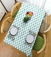 HAIXIA Tischdecke NEU türkis mit Weihnachts-Design, Winter-Handschuhe mit mit Fell- und Deko-Bild mit Rahmen, Weiß, Blau, 55inch*82inch