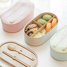 haiyan1 Kunststoff Brotdose Oval Weizenstroh