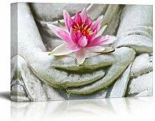 haiyilan Buddha-Statue mit rosaem Lotus No