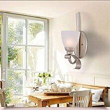 HAIZHEN Amerikanische Jane Europäischen Retro schmiedeeiserne Wandleuchte Lampe Wohnzimmer Schlafzimmer Flur Treppe Nachttischlampe Gang Einheitlichen Europäischen Kopf