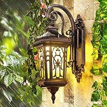 HAIZHEN Retro outdoor Wandleuchte Europäischen wasserdicht Aussenleuchte kreative Garten Lampe Balkon Treppen Wandleuchte (Farbe: gelb)