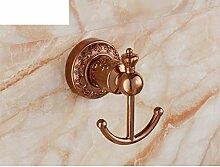 Haken Rose Gold/Bad-AccessoiresPaket/Europäische Haken Garderobe/Antike Racks/Messing Handtuchhalter-D