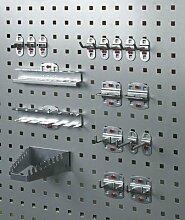 Haken-Set zur Aufnahme von Werkzeugen, verzinkter