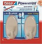 Hakenklebestreifen Powerstrips®-Large, beige, oval