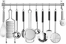 Hakenleiste für Küchenutensilien, Edelstahl