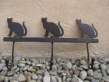 Hakenleiste Katze aus Metall