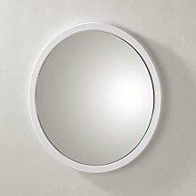 HAKU Möbel 42389 Wandspiegel 2 x 38 cm, weiß