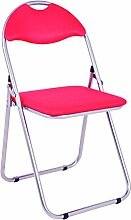 Haku-Möbel 44304 6 Klappsessel, Aluminium, rot,