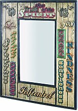 HAKU Möbel Wandspiegel, 3 x 52 x H: 70 cm, vintage