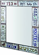 HAKU Möbel Wandspiegel, 4 x 61 x H: 81 cm, vintage