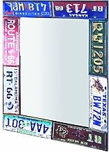 HAKU Möbel Wandspiegel, 5 x 61 x H: 81 cm, vintage