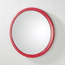 HAKU Wandspiegel Rahmen aus hochglanz rot, Spiegelglas, 42489