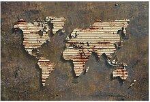 Halbglänzende Fototapete Rost Weltkarte East