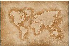Halbglänzende Tapete Antike Weltkarte
