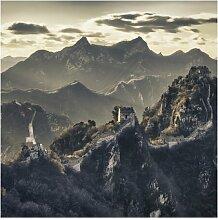 Halbglänzende Tapete Berge Die große chinesische