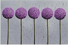 Halbglänzende Tapete Blumen Allium East Urban Home