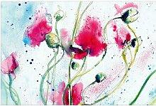 Halbglänzende Tapete Blumen Painted Poppies East