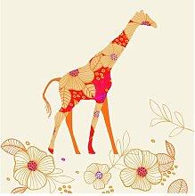 Halbglänzende Tapete Floral Giraffe East Urban