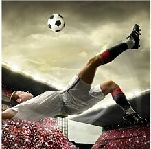 Halbglänzende Tapete Fußball Action