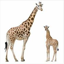 Halbglänzende Tapete Giraffe Mutter und Kind