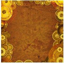 Halbglänzende Tapete Goldene Kreise