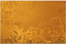 Halbglänzende Tapete Goldener Barock