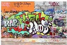 Halbglänzende Tapete Graffiti Wall East Urban Home