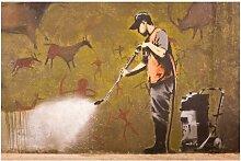 Halbglänzende Tapete Graffiti Wash History Away