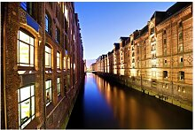 Halbglänzende Tapete Hamburg Speicherstadt East