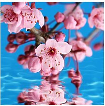 Halbglänzende Tapete Kirschblüte East Urban Home