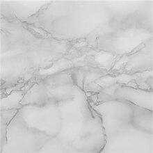 Halbglänzende Tapete Marmor Schwarz Weiss Wand