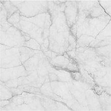 Halbglänzende Tapete Marmor Weiss Grau Bianco