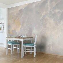Halbglänzende Tapete Onyx Marmor Grau Wand East