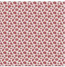 Halbglänzende Tapete Rotes Barock Blumenmuster