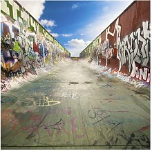 Halbglänzende Tapete Skate Graffiti East Urban